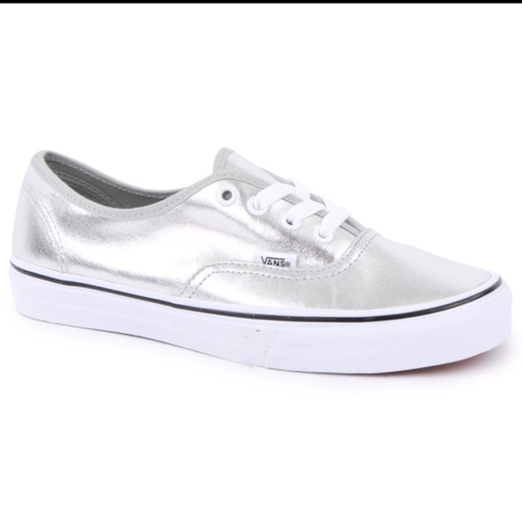 7ca7a5a754 Vans Metallic Authentic Womens Trainers in Silver.  M 5afec1d29cc7efeae4f5050f